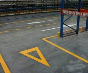 Oznakowanie poziome - droga dwukierunkowa, trójkąt podporządkowania