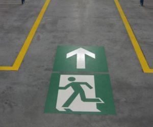 Oznakowanie poziome - Piktogram - Droga ewakuacyjna