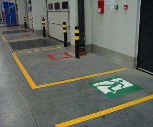 Oznakowanie poziome - drzwi ewakuacyjne