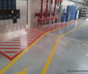 Oznakowanie poziome - sprzęt przeciwpożarowy, ścieżka dla pieszych