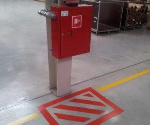 Oznakowanie poziome - sprzęt przeciwpożarowy, hydrant, gaśnica