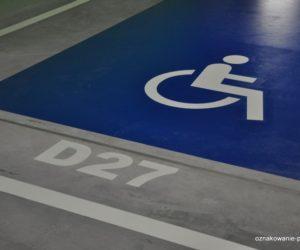Piktogramy - Miejsce dla niepełnosprawnych