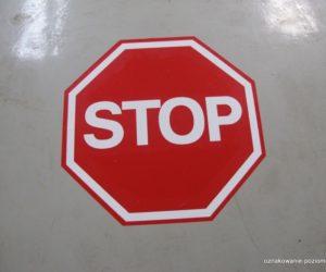 Piktogramy - Zatrzymaj się