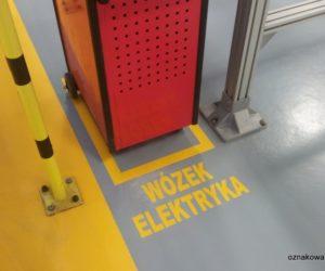 Oznakowanie poziome - wózek elektryka