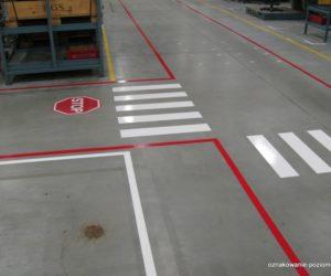 Oznakowanie poziome, przejście dla pieszych, piktogram Stop